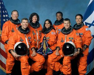The crew of the Columbia mission.