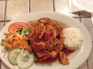 Chicken-stuffed mofongo